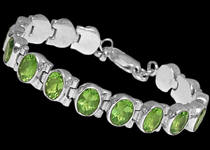Silver Bracelets adorned with Gemstones
