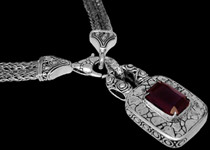 Silver and Garnet Necklaces