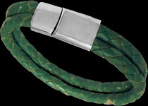 Leather bracelets with stainless steel