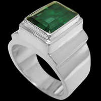 Sterling Silver Green Quartz Rings