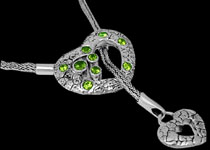 Peridot and Silver Necklaces