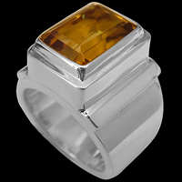 Citrine and Sterling Silver Rings