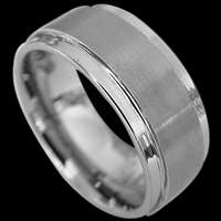 Groom's Tungsten Wedding Bands