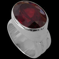 Garnet and Sterling Silver Rings
