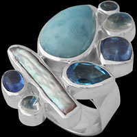 Sterling Silver Thumb Rings - Gemstone and Silver Thumb Rings
